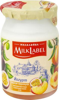 Йогурт MilkLabel Персик-маракуйя 2.5% 130г