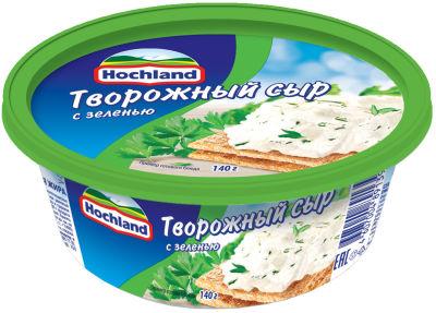 Сыр творожный Hochland с зеленью 60% 140г