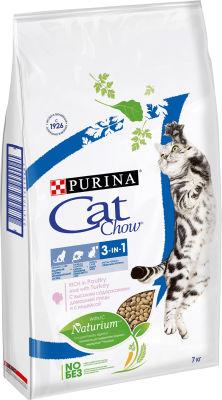 Сухой корм для кошек Cat Chow 3in1 с домашней птицей и индейкой 7кг