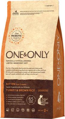 Сухой корм для кошек One&Only Kitten индейка с рисом 2кг